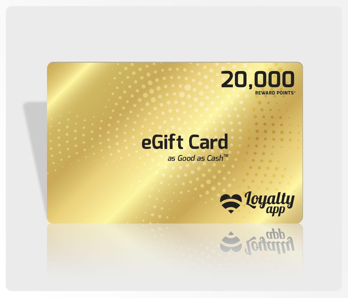 20000 reward points eGift Card