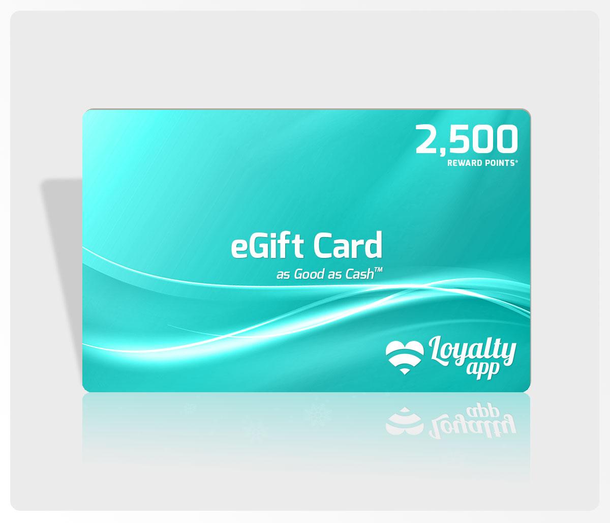 2500 reward points eGift Card