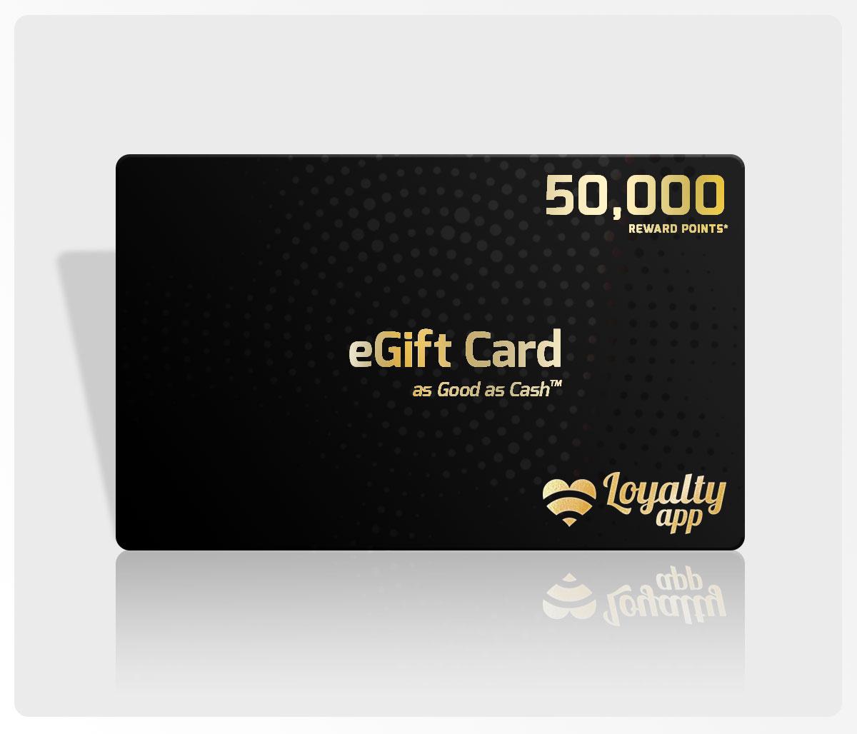 50000 reward points egift card