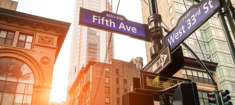 Fifth Avenue Street Sign