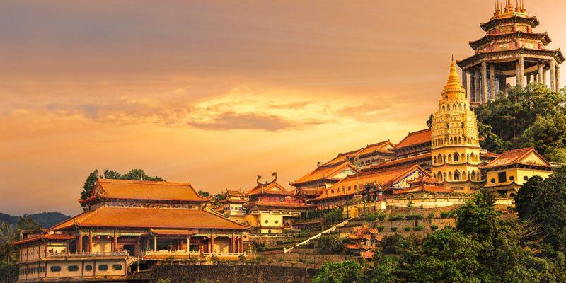 Malaysia Buddhist temple Kek Lok Si in Penang