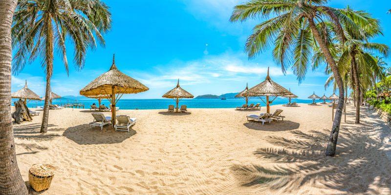 Tropical coastal scenery, Vietnam