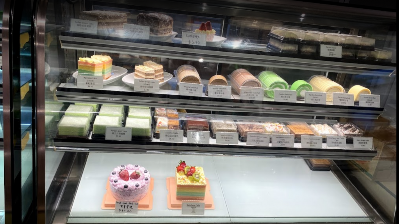 Cakes selection